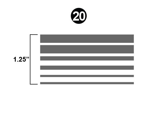 "Northwood Upper Stripe 1 1/2""  x 25' Roll"