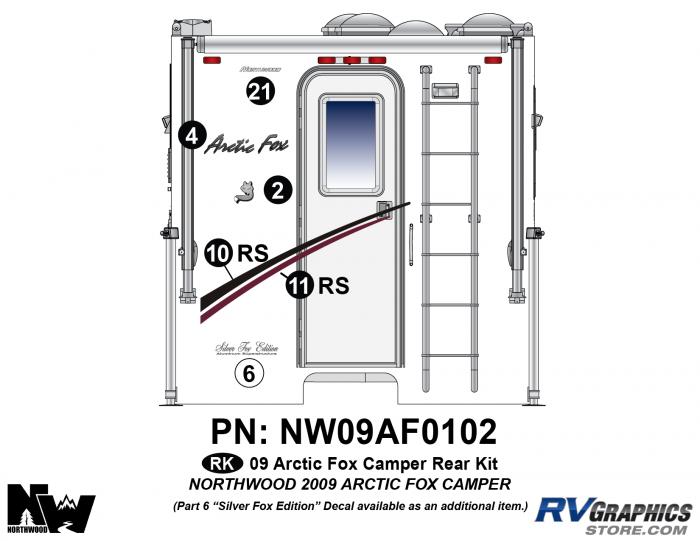 2009 Arctic Fox Camper Rear Kit