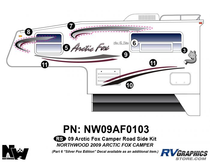2009 Arctic Fox Camper Left Side Kit