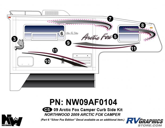 2009 Arctic Fox Camper Right Side Kit