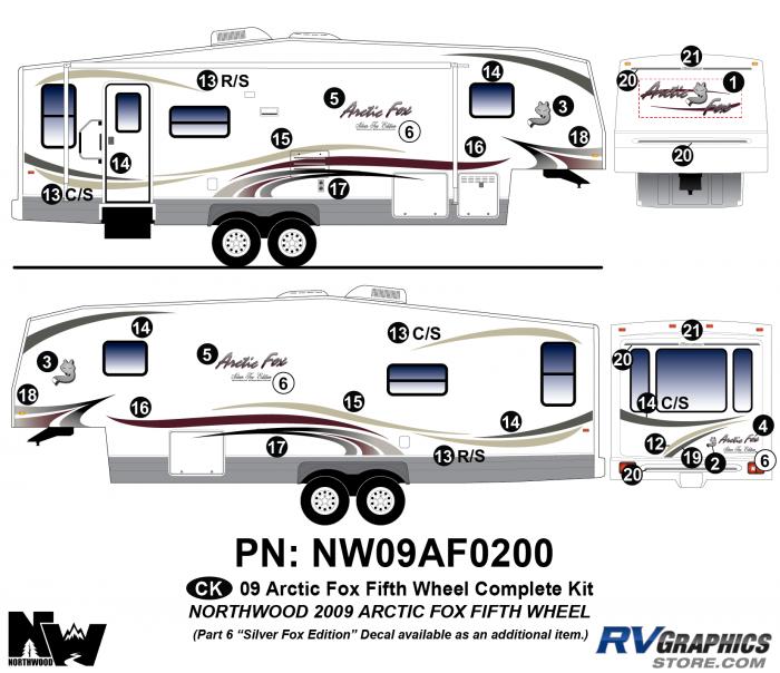 2009 Arctic Fox Fifth Wheel Complete Kit