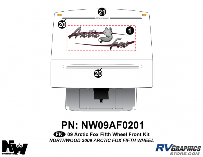 2009 Arctic Fox Fifth Wheel Front Kit