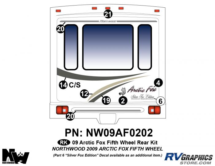 2009 Arctic Fox Fifth Wheel Rear Kit