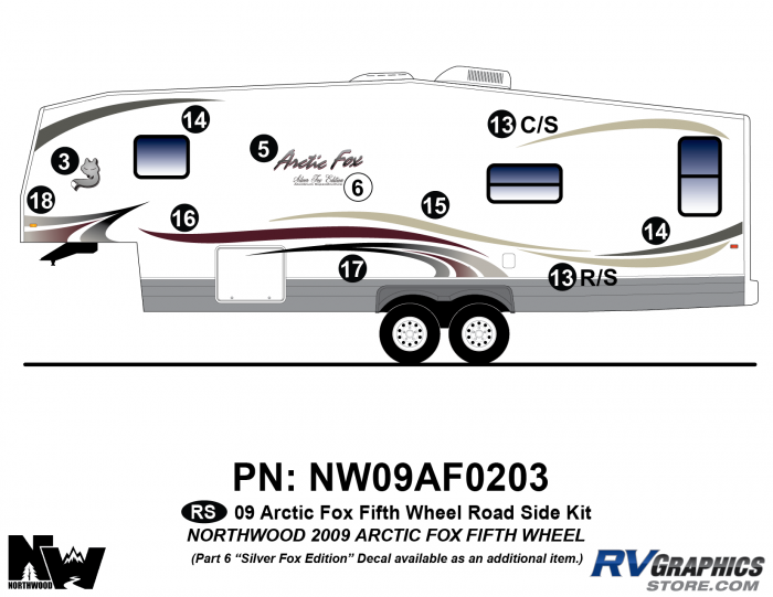 2009 Arctic Fox Fifth Wheel Left Side Kit