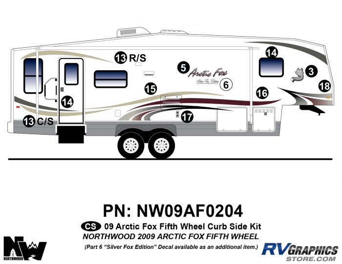 2009 Arctic Fox Fifth Wheel Right Side Kit