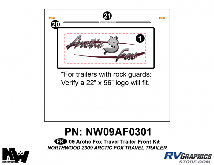 2009 Arctic Fox Med Travel Trailer Front Kit