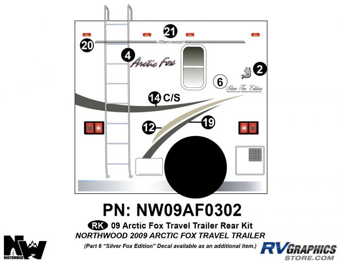 2009 Arctic Fox Med Travel Trailer Rear Kit