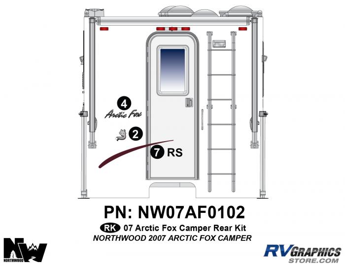 2007 Arctic Fox Camper Rear Kit