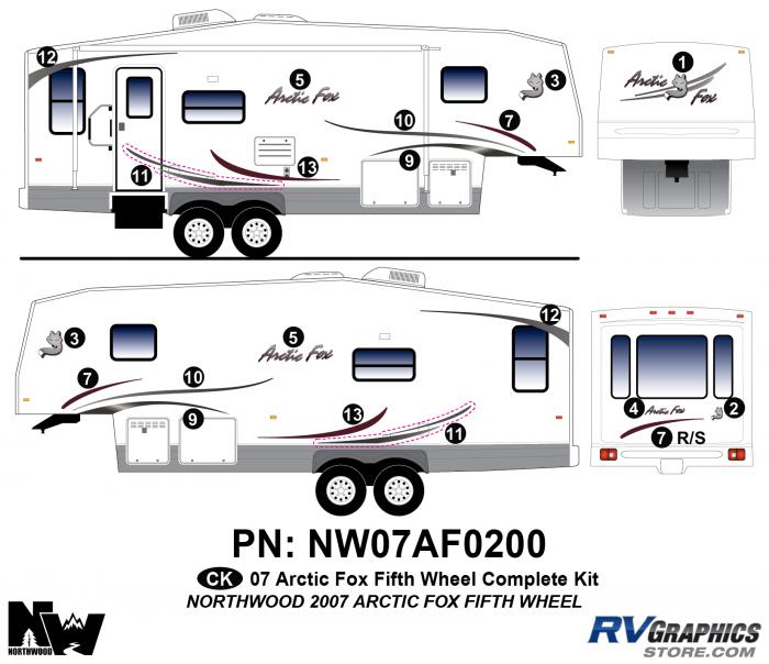 2007 Arctic Fox Fifth Wheel Complete Kit