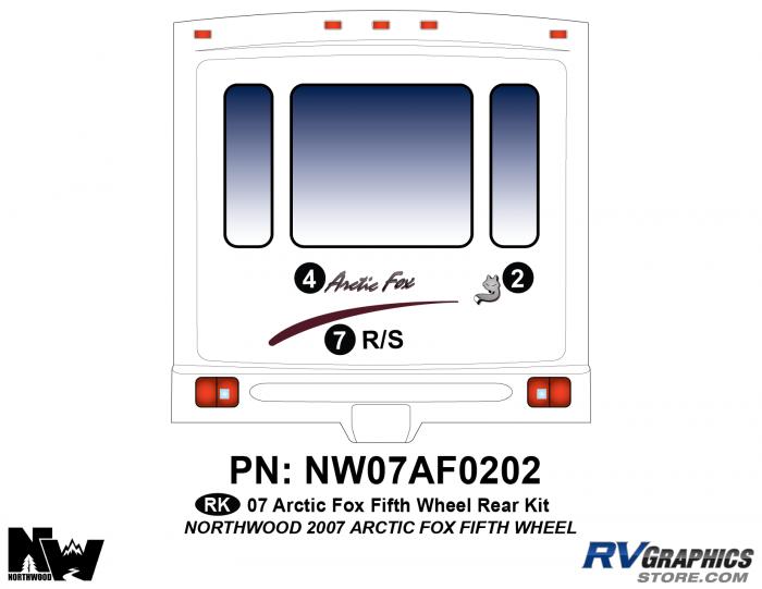 2007 Arctic Fox Fifth Wheel Rear Kit