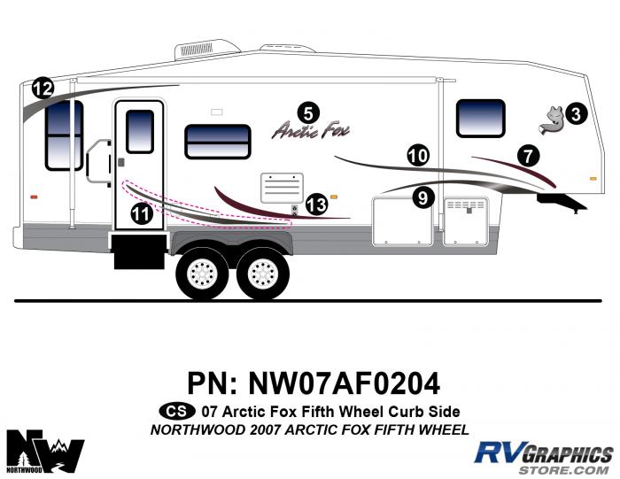 2007 Arctic Fox Fifth Wheel Right Side Kit