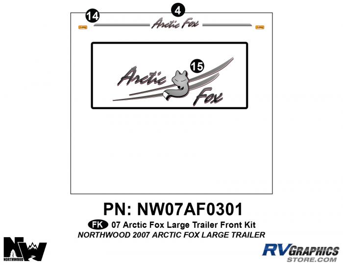 2007Arctic Fox Travel Trailer Front Kit