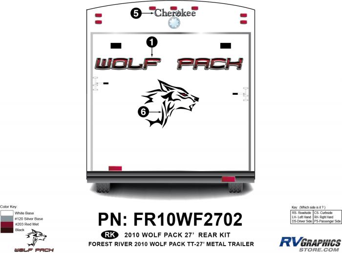 2010 Wolf Pack TT-27 Metal Rear Kit