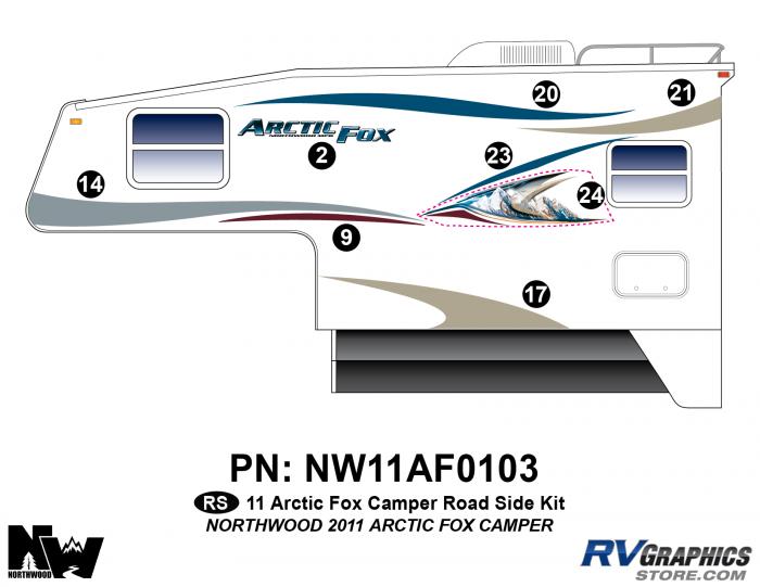 2011 Arctic Fox Camper Left Side Kit
