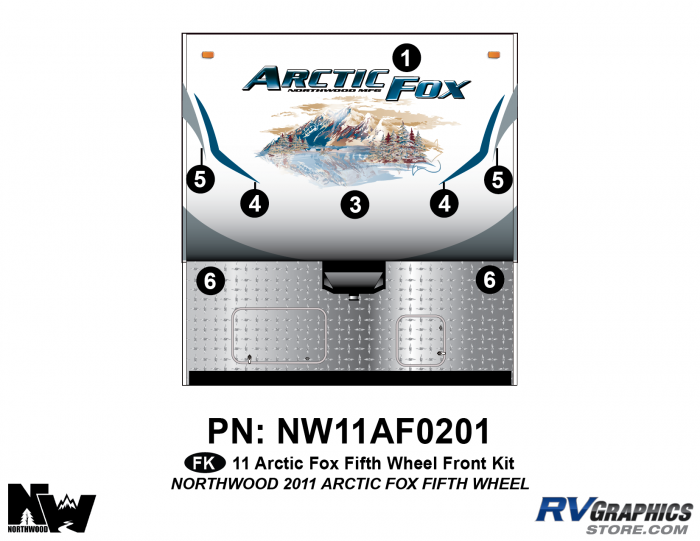 2011 Arctic Fox Fifth Wheel Front Kit