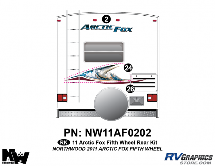 2011 Arctic Fox Fifth Wheel Rear Kit