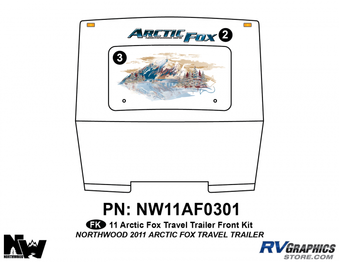 2011 Arctic Fox Travel Trailer Front Kit