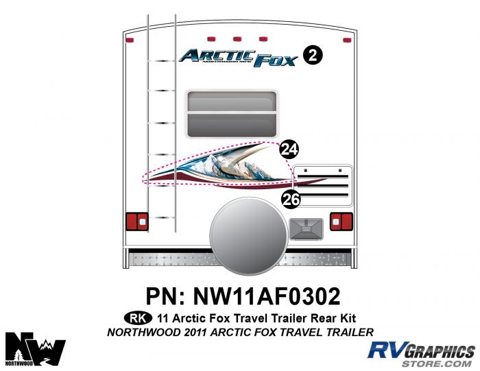 2011 Arctic Fox Travel Trailer Rear Kit