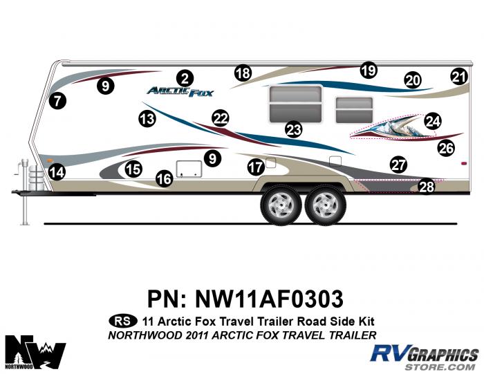 2011 Arctic Fox Travel Trailer Left Side Kit