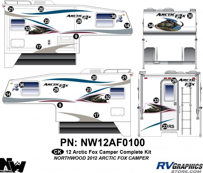 2012 Arctic Fox Camper Complete Kit