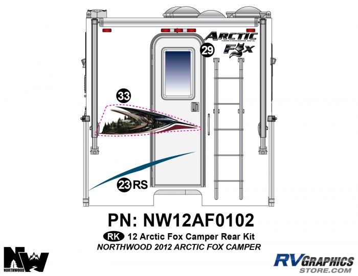 2012 Arctic Fox Camper Rear Kit