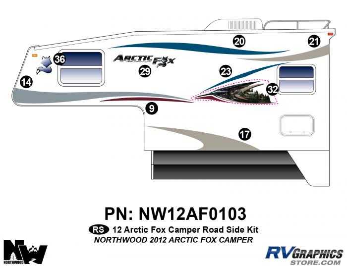 2012 Arctic Fox Camper Left Side Kit