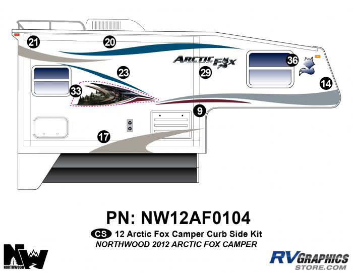 2012 Arctic Fox Camper Right Side Kit