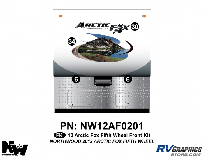 2012 Arctic Fox Fifth Wheel Front Kit