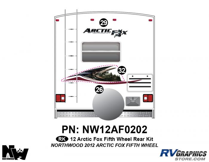 2012 Arctic Fox Fifth Wheel Rear Kit