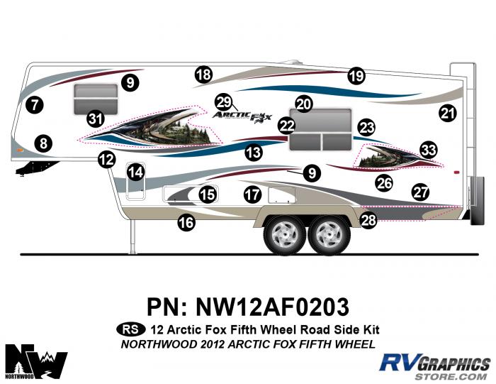 2012 Arctic Fox Fifth Wheel Left Side Kit