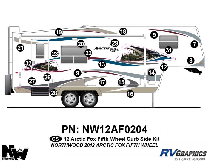 2012 Arctic Fox Fifth Wheel Right Side Kit