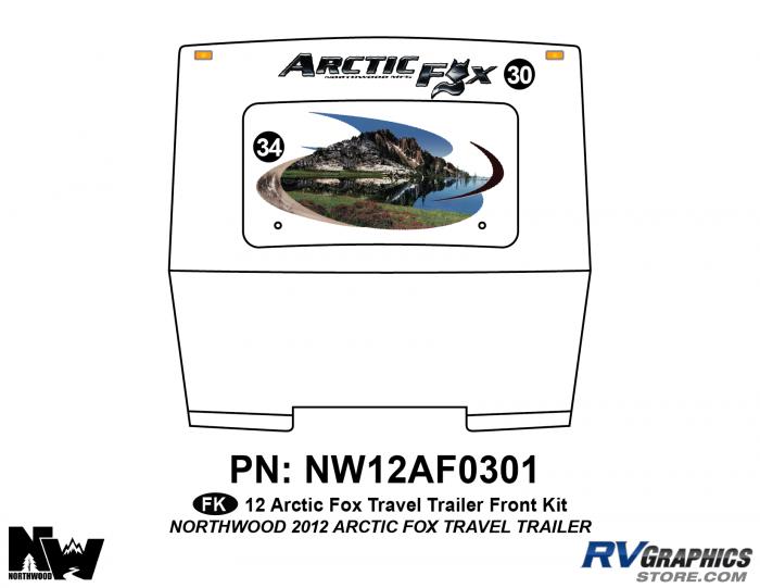 2012 Arctic Fox Travel Trailer Front Kit