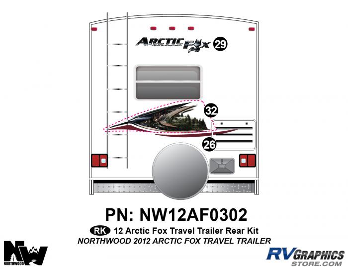 2012 Arctic Fox Travel Trailer Rear Kit