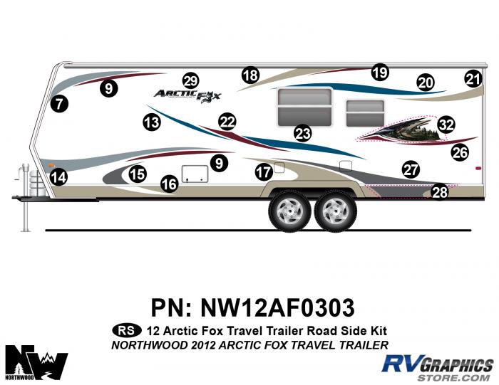2012 Arctic Fox Travel Trailer Left Side Kit