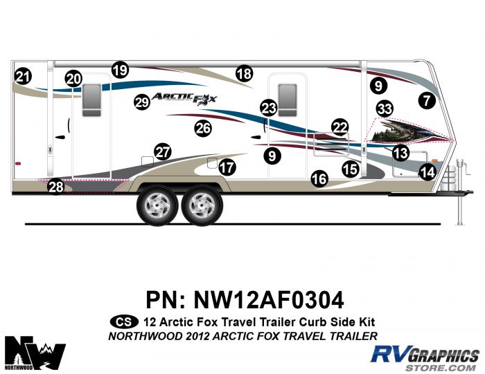 2012 Arctic Fox Travel Trailer Right Side Kit