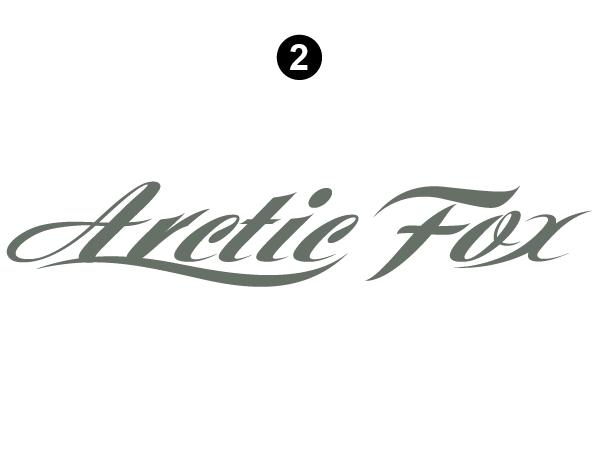 Side and Rear Arctic Fox logo