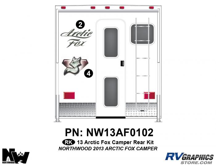2013 Arctic Fox Camper Rear Kit