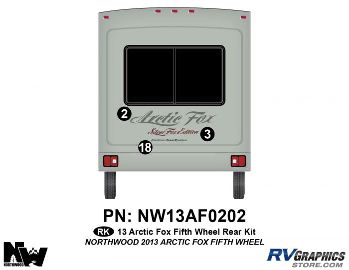 2013 Arctic Fox Fifth Wheel Rear Kit