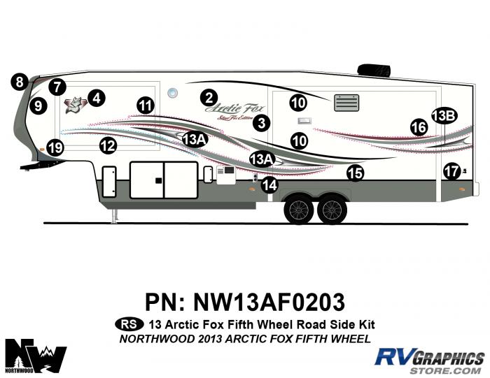 2013 Arctic Fox Fifth Wheel Left Side Kit