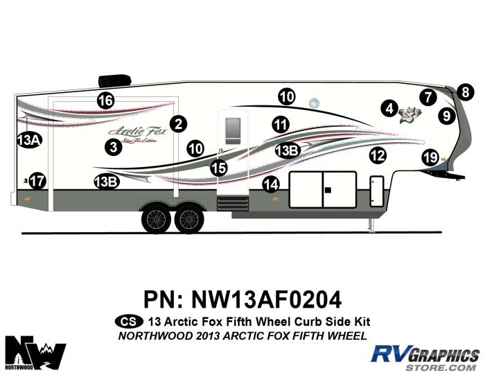 2013 Arctic Fox Fifth Wheel Right Side Kit
