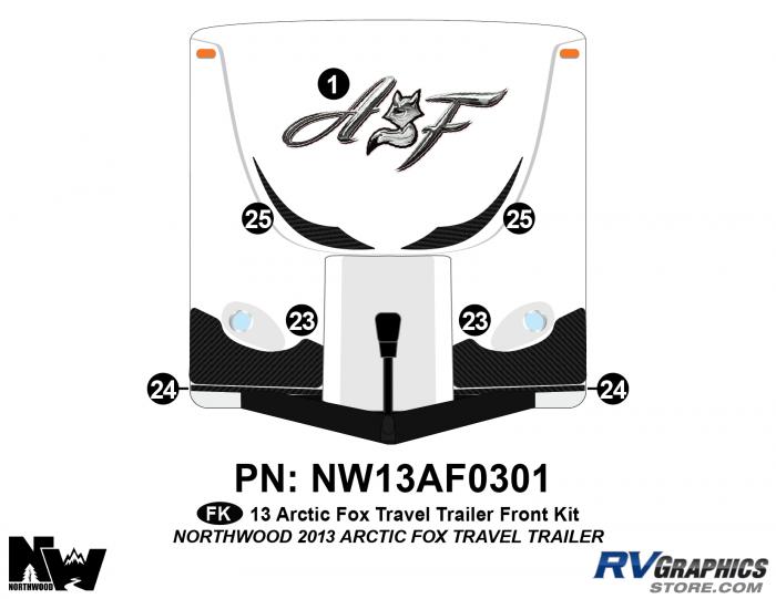 2013 Arctic Fox Travel Trailer Front Kit
