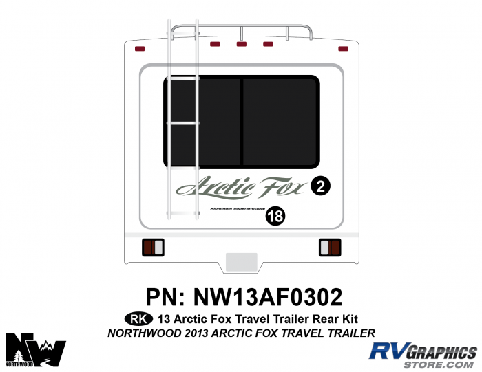 2013 Arctic Fox Travel Trailer Rear Kit