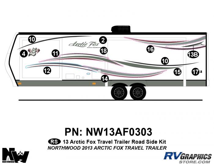 2013 Arctic Fox Travel Trailer Left Side Kit