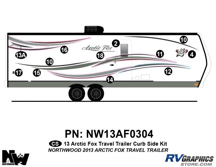 2013 Arctic Fox Travel Trailer Right Side Kit