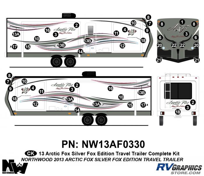2013 Arctic Fox Silver Fox Edition TT Complete Kit