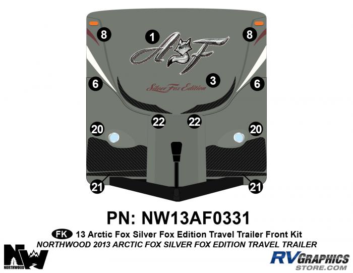 2013 Arctic Fox Silver Fox Edition TT Front Kit