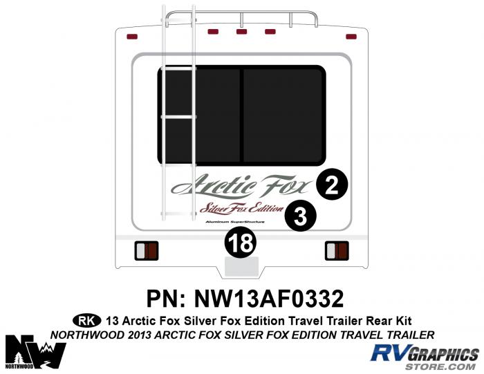2013 Arctic Fox Silver Fox Edition TT Rear Kit