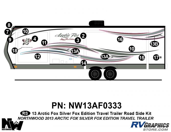 2013 Arctic Fox Silver Fox Edition TT Left Side Kit