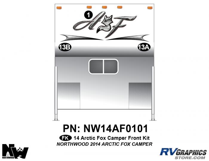2014 Arctic Fox Camper Front Kit