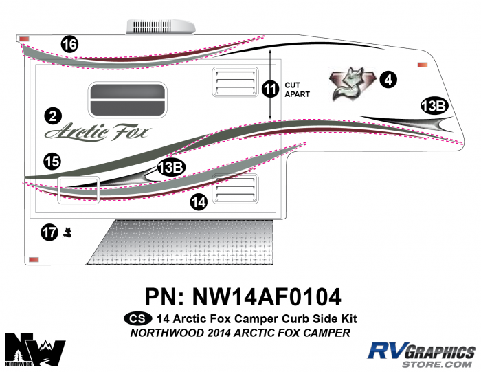 2014 Arctic Fox Camper Right Side Kit